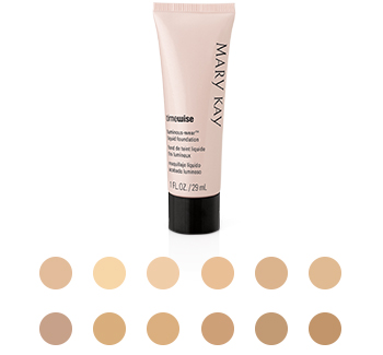 Find your perfect shade of Mary Kay TimeWise Luminous-Wear Liquid Foundation here.