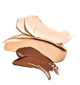 Ivory, Beige and Bronze Mary Kay TimeWise 3D Foundation product shade smears.