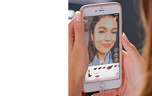 Use the virtual makeover app from Mary Kay to try beauty trends and hundreds of shades.