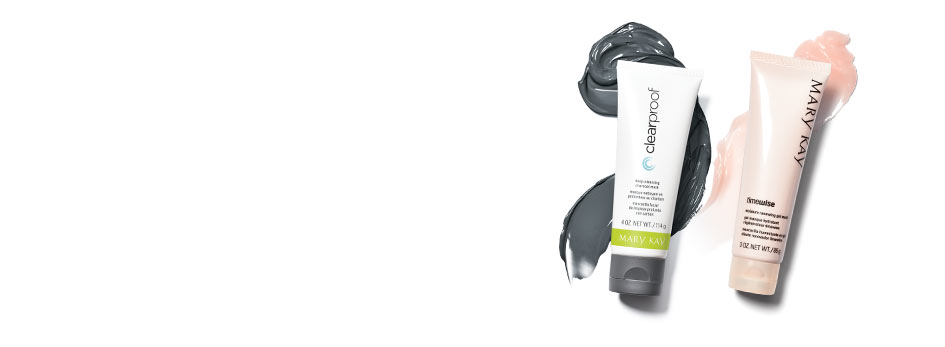 Mary Kay skin care tip: Use Deep-Cleansing Charcoal Mask on oilier areas, Moisture Renewing Gel Mask on drier areas.
